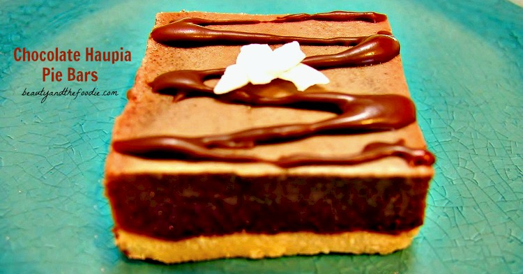 Chocolate Haupia Pie Bars / beautyandthefoodie.com