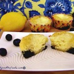 Lemon Blueberry Cheese Danish Muffins, grain free and low carb,