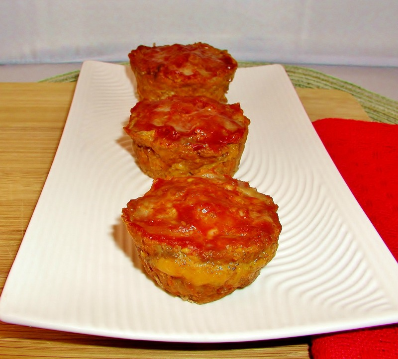 Grain Free Cheese Filled Meatloaf Minis