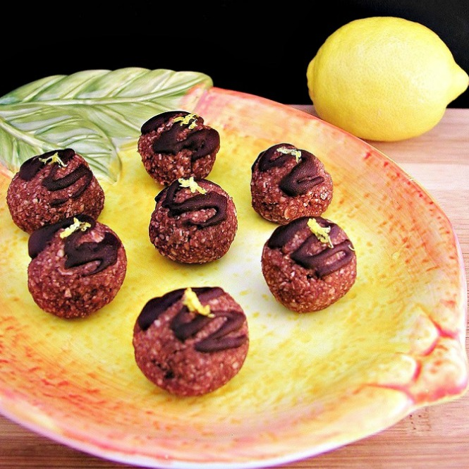 No Bake Chocolate Lemon Dream Balls- Low Carb & Paleo