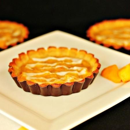Paleo Mango Peach Tarts with Coconut Vanilla Sauce