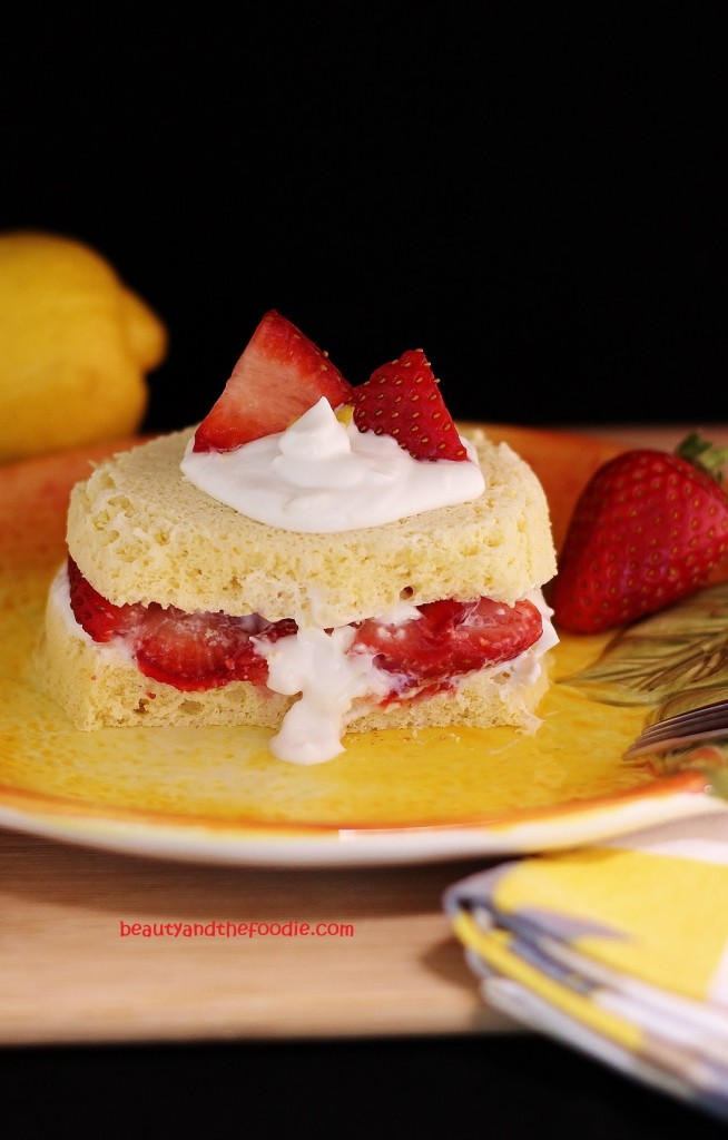 Strawberry Lemon Shortcake, Paleo beautyandthefoodie.com
