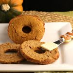 Low Carb Pumpkin Bagels-grain free, keto and low carb.
