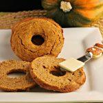 Low Carb Pumpkin Bagels- Pumkin Spice bagels, low carb and paleo.
