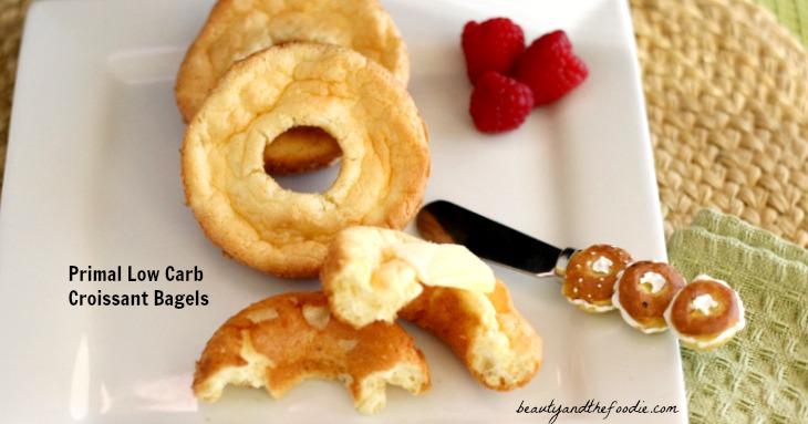 Low Carb Croissant Bagels, grain free primal / beautyandthefoodie.com