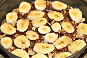 Paleo Banana Upside Down Cake  bottom layer