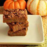 Magical Paleo Pumpkin Cruble Bars- Low Carb & gluten free.