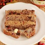 Chocolate Chip Cranberry Pecan Bread - Paleo, low carb