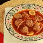 Paleo Italian Meatball Soup Crock Pot- grain free and low carb