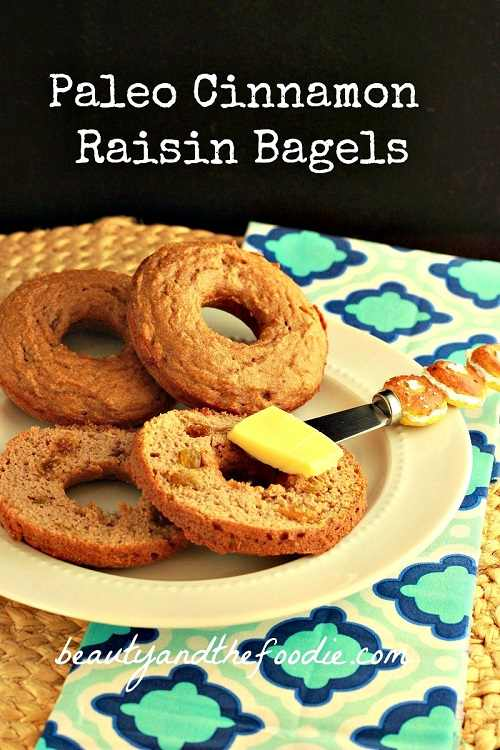 Paleo Plain or Cinnamon Raisin Bagels. Grain free and low carb version