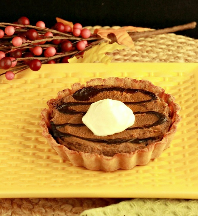 Chocolate Pumpkin Gingerbread Tarts Paleo