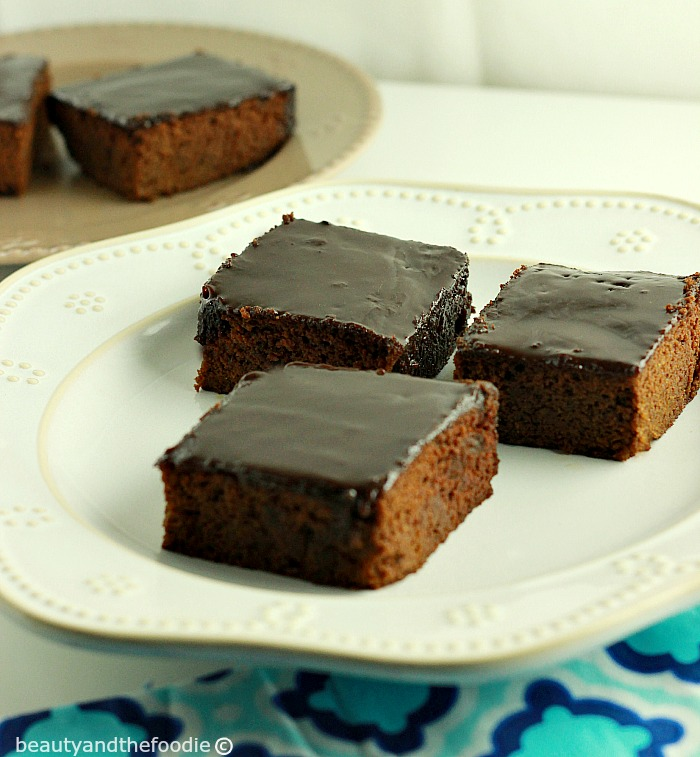 Frosted Texas Sheet Cake Brownies, paleo and low carb version