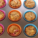 Strawberry Banana Chocolate Chip Muffins. Paleo, low carb and keto