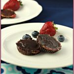 Chocolate Chia Berry Sun Butter Cups, paleo and low carb option