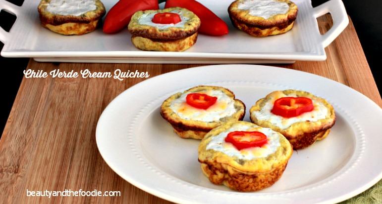 Chili Verde  Cream Mini Quiches