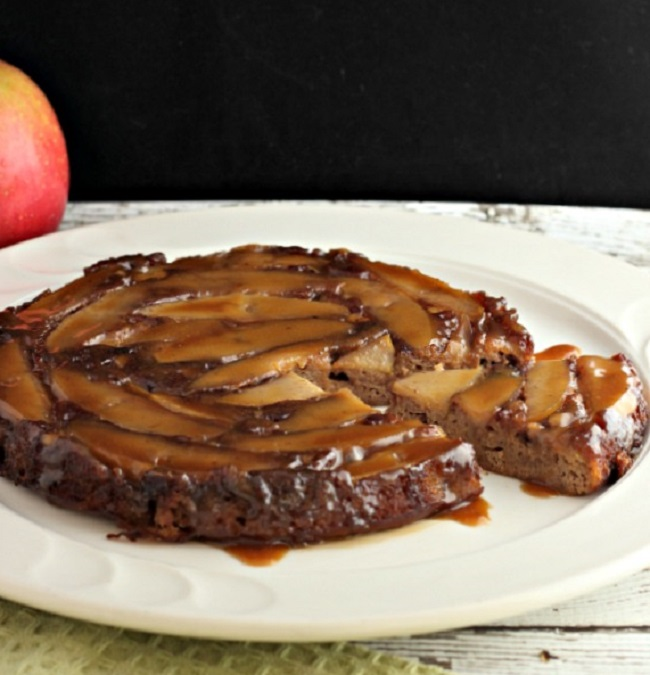 Cinnamon Caramel Apple Poke Cake