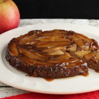 Paleo Cinnamon Apple Caramel Poke Cake