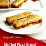 Grain Free Stuffed Pizza Bread , primal, low carb / beautyandthefoodie.com