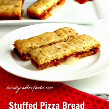 Grain Free Stuffed Pizza Bread , primal, low carb / beautyandthefoodie.com