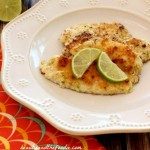 Garlic Lime Fillet of Fish with garlic lime butter. grain free, paleo and low carb / beautyandthefoodie.com