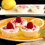 Lemon Raspberry no bake Cheesecake Bites, crust free, primal and low carb/ beautyandthefoodie.com