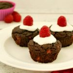 Frosted Chocolate Raspberry Cupcakes- Paleo & Low carb