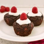 Frosted Chocolate Raspberry Cupcakes- Low carb & Paleo