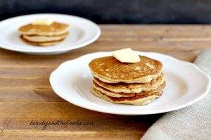 "Paleo and Low Carb ""Buttermilk"" Pancakes. beautyandthefoodie.com"