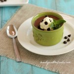 Paleo Chocolate Mint Pudding. Grain free, low carb with dairy free option. beautyandthefoodie.com