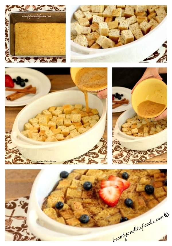 Vanilla Cinnamon French toast casserole. beautyandthefoodie.com