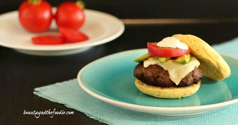 Taco Burgers on Paleo Burger Buns. Taco burgers with chipotle mayonnaise on easy grain free burger buns. beautyandthefoodie.com