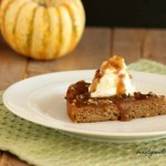 Creamy Caramel Pumpkin Cake. grain free, paleo and low carb