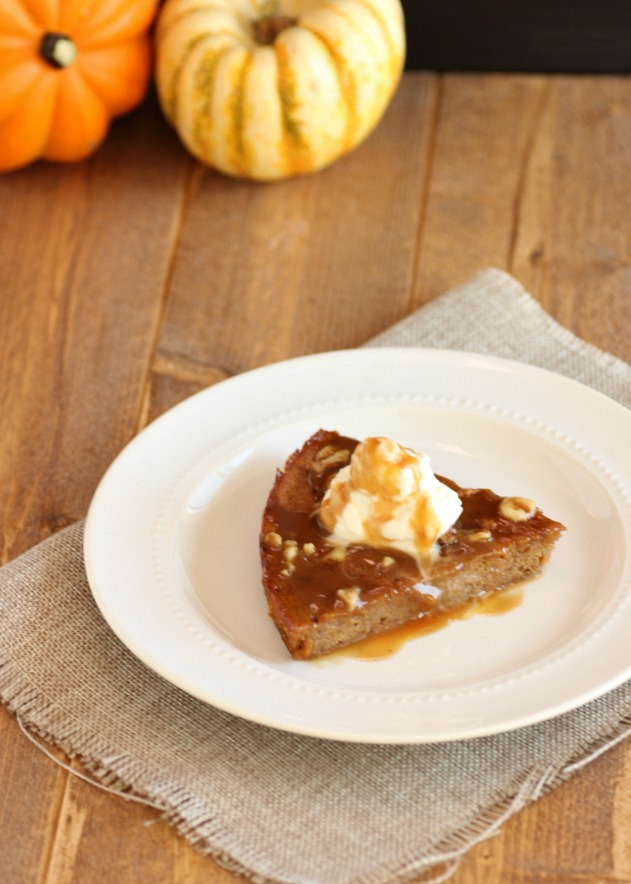 Creamy Caramel Pumpkin Cake- paleo and low carb