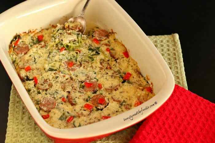 Italian Cheesy Sausage and Zucchini Bake, grain free and low carb