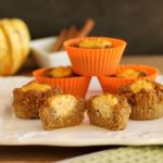 Sour Cream Pumpkin Butter Muffins. Grain free and low carb.