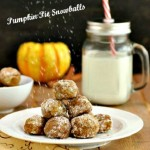 Pumpkin Pie Snowball Cookies, grain free, paleo and low carb