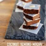 Easy Coconut Almond Mocha Fudge, grain free, paleo and low carb #easyfudge #paleo
