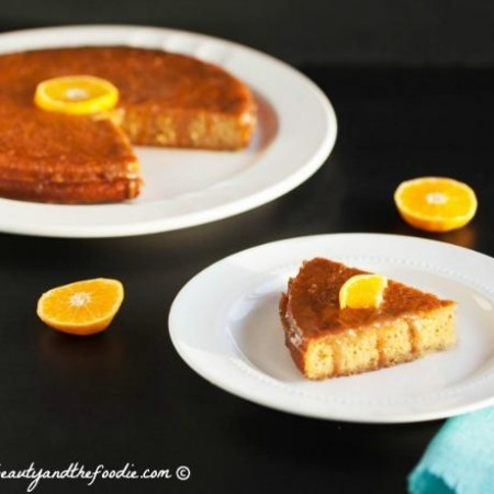 Paleo Orange Poke Cake