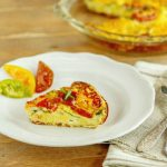 Bacon Spinach Tomato Ricotta Frittta - Low Carb & Gluten Free