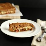 Bacon Mushroom Stuffed Turkey Meatloaf, grain free, low carb and paleo version