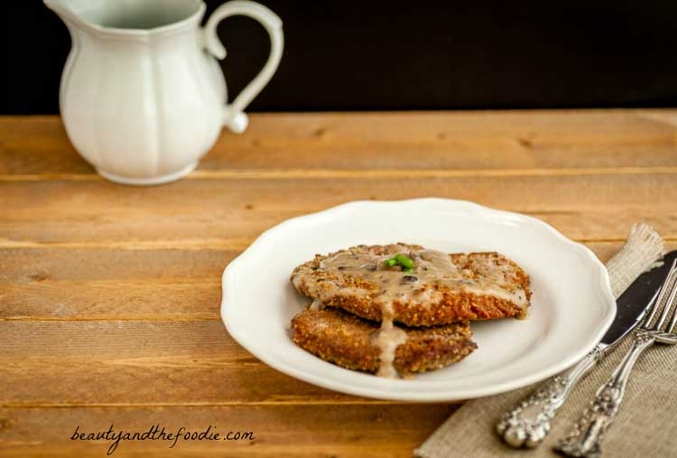 Southern Chicken Fried Steak Paleo #chicken friedsteak #lowcarb