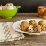 Crispy Oven Fried Garlic Mushrooms, grain free, low carb, and simply delicious