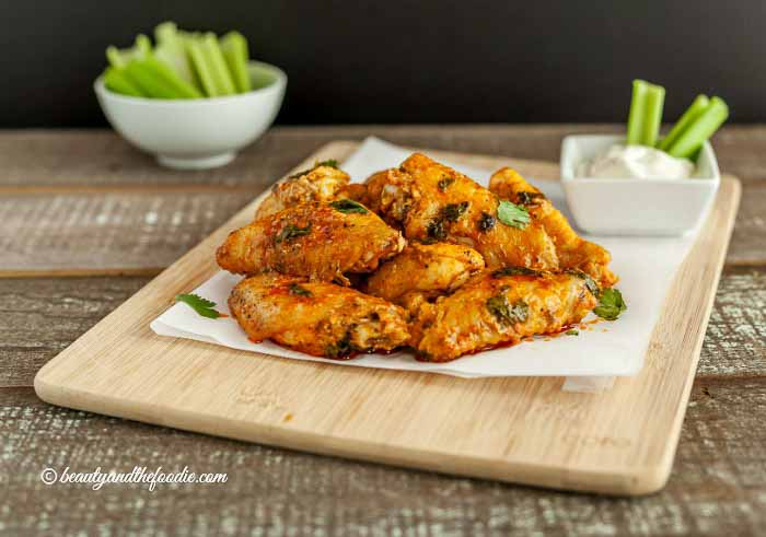 Saucy Baked Buffalo Chicken Wings, low carb and paleo