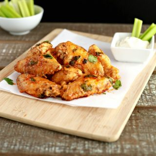 Saucy Baked Buffalo Wings- Low carb, keto & paleo