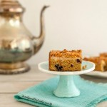 Blueberry Cream Crumb Cake, grain free, low carb & paleo option