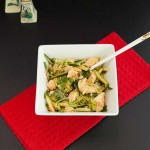 Asian Chicken Zoodle Salad, grain free, paleo and low carb