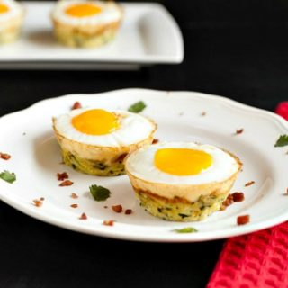 Egg Bacon Zucchini Nests Paleo, Low Carb & Gluten Free.