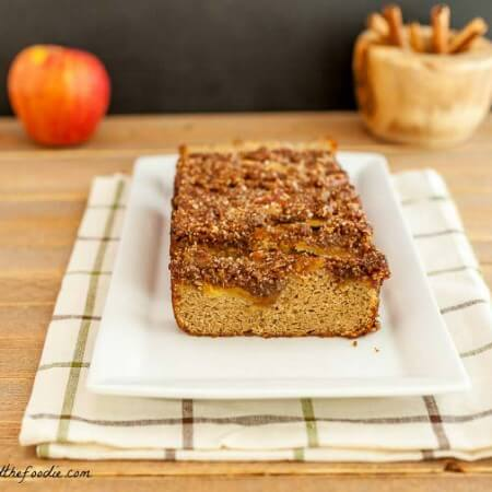 French Apple Pie Bread, paleo and low carb