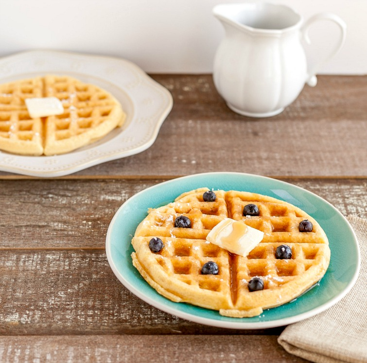 Low Carb Buttermilk Waffles- low carb, paleo & gluten free.