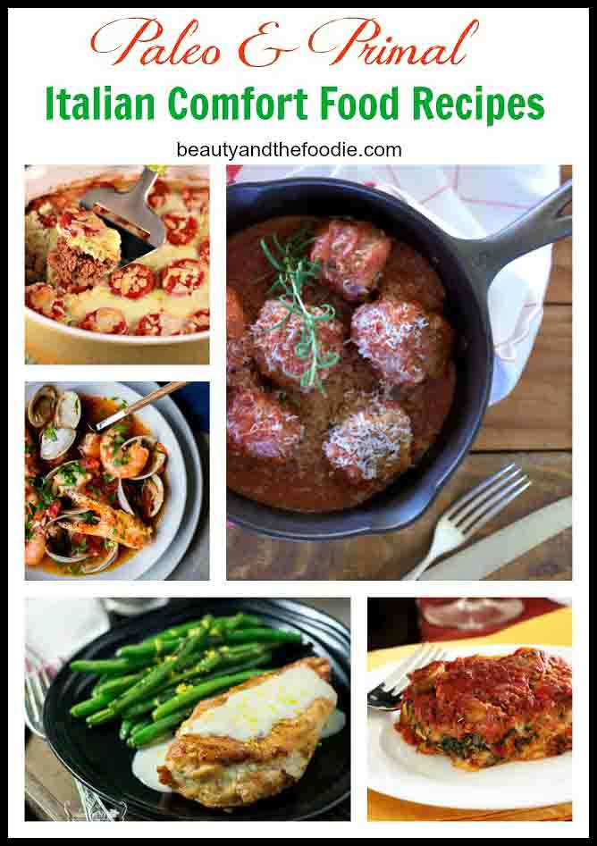 Paleo Italian Comfort Food Recipes, a paleo and primal recipe collection